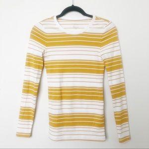 J Crew Perfect Fit Yellow Shirt Long Sleeve XS